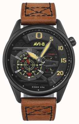 AVI-8 Hawker harrier ii - as pik | automatyczne | brązowy skórzany pasek AV-4070-04