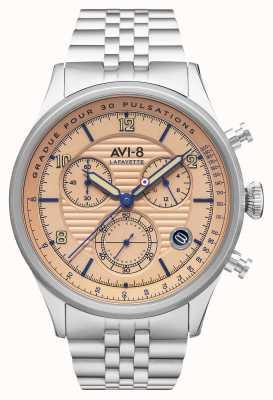 AVI-8 Flyboy lafayette | chronograf | bransoleta ze stali nierdzewnej AV-4076-44