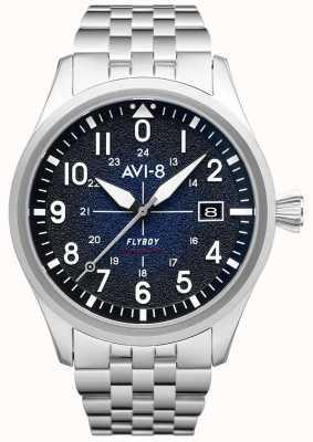 AVI-8 Flyboy | automatyczne | niebieska tarcza | bransoleta ze stali nierdzewnej AV-4075-22