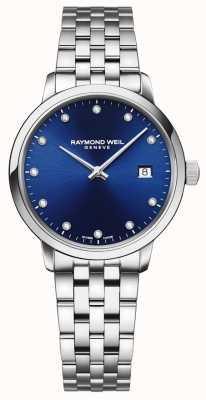 Raymond Weil Toccata   11 diamentowa niebieska tarcza   bransoleta ze stali nierdzewnej 5985-ST-50081
