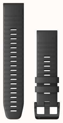 Garmin Silikonowy szary łupek Quickfit 22, okucia w kolorze czarnym 010-12863-22