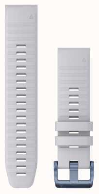 Garmin Zapięcie silikonowe Quickfit 22 w kolorze białym, mineralnym niebieskim 010-12863-23