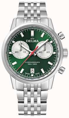 Delma Chronograf kontynentalny | bransoleta ze stali nierdzewnej | zielona tarcza 41701.704.6.141