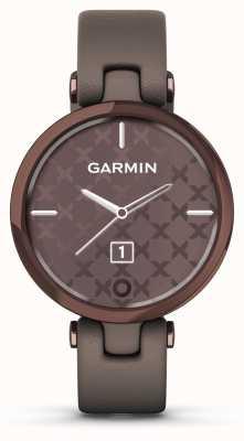 Garmin Lily Classic Edition | oprawa z ciemnego brązu | sprawa paloma | włoski skórzany pasek 010-02384-B0