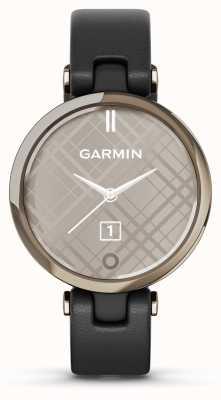 Garmin Lily Classic Edition | kremowa złota ramka | czarna obudowa | włoski skórzany pasek 010-02384-B1