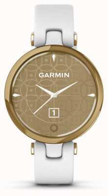 Garmin Lily Classic Edition | jasnozłota ramka | biała obudowa | włoski skórzany pasek 010-02384-B3