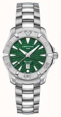 Certina Damska tarcza DS Action Sparkle Green C0322511109109
