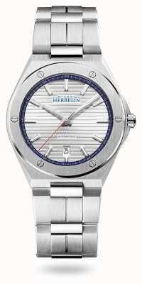 Michel Herbelin Czapka Camarat | automatyczne | srebrna tarcza | bransoleta ze stali nierdzewnej 1645/B42
