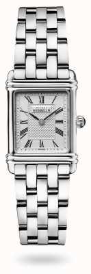 Michel Herbelin Art déco   bransoleta ze stali nierdzewnej   srebrna tarcza 17478/08B2