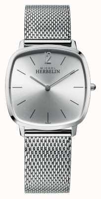 Michel Herbelin Miasto | srebrna tarcza | bransoletka z siatki ze stali nierdzewnej 16905/11B