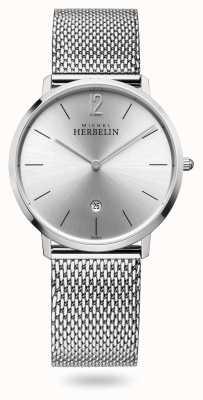 Michel Herbelin Miasto | bransoleta z siatki ze stali nierdzewnej | srebrna tarcza 19515/11B