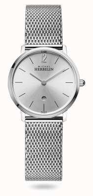 Michel Herbelin Miasto | srebrna tarcza | bransoletka z siatki ze stali nierdzewnej 16915/11B