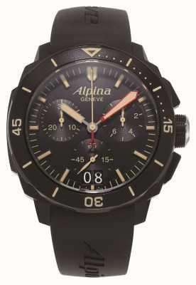 Alpina Nurek Seastrong 300 | chronograf | czarny silikonowy pasek AL-372LBBG4FBV6