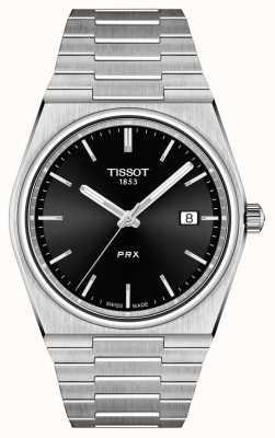 Tissot Męska kwarcowa czarna tarcza PRX 40 mm T1374101105100