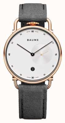 Baume & Mercier Baume | ekologiczny kwarc | biała tarcza | pasek z szarym korkiem M0A10600