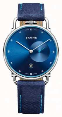 Baume & Mercier Baume | ekologiczny kwarc | niebieska tarcza | pasek z niebieskim korkiem M0A10601