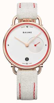 Baume & Mercier Baume | ekologiczny kwarc | biała tarcza | pasek z białym korkiem M0A10602