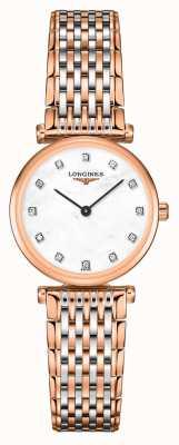 Longines Kobiety | la grande classique | diamentowa tarcza | bransoleta ze stali w dwóch odcieniach L42091977