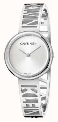 Calvin Klein Mania   bransoleta ze stali nierdzewnej   srebrna tarcza   rozmiar M KBK2M116