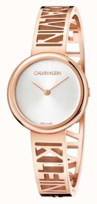 Calvin Klein Mania | stal pvd w kolorze różowego złota | srebrna tarcza | rozmiar M KBK2M616
