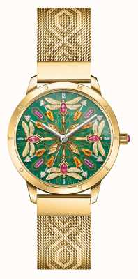 Thomas Sabo Glam & soul | bransoletka z siatki w kolorze złotym | kamień ważka d WA0369-264-211-33