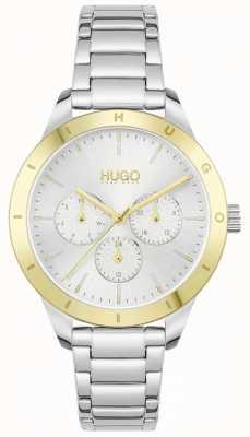 HUGO #friend | bransoleta ze stali nierdzewnej | srebrna tarcza 1540090