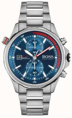 BOSS | obieżyświat | męskie | bransoleta ze stali nierdzewnej | niebieska tarcza | 1513823