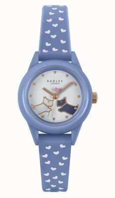 Radley Obejrzyj to! | niebieski silikonowy pasek damski | biała tarcza RY21260