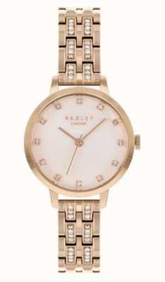Radley | damskie | bransoletka platerowana różowym złotem | biała tarcza | RY4560