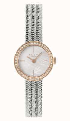 Radley | damskie | srebrna bransoletka z siatki stalowej | tarcza z masy perłowej | RY4567