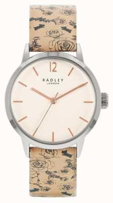 Radley | damskie | beżowy skórzany pasek | biała tarcza | RY21245A