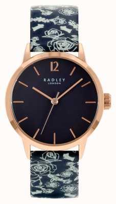 Radley Czarny skórzany pasek damski | czarna tarcza RY21250A