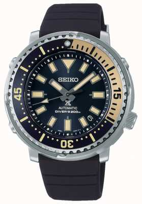 Seiko Prospex | edycja uliczna z tuńczykiem | niebieski silikonowy pasek | niebieska tarcza SRPF81K1