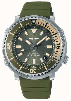 Seiko Prospex | edycja uliczna mini tuńczyka safari | zielony pasek silikonowy | SRPF83K1