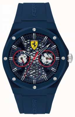 Scuderia Ferrari Aspire | męski pasek silikonowy w kolorze niebieskim | niebieska tarcza 0830788