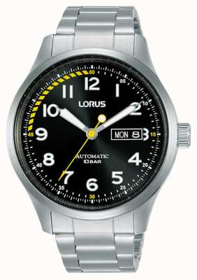 Lorus Mężczyźni | automatyczne | czarna tarcza | bransoleta ze stali nierdzewnej RL457AX9
