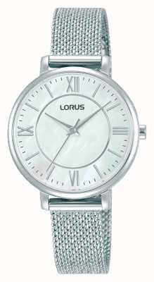 Lorus Kobiety | biała tarcza | bransoletka z siatki ze stali nierdzewnej RG221TX9