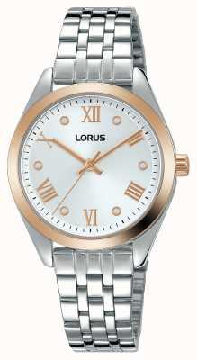 Lorus Kobiety | srebrna tarcza | bransoleta ze stali nierdzewnej RG256SX9