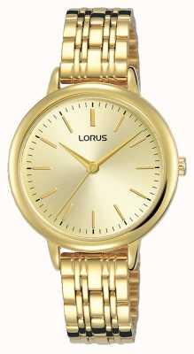 Lorus Kobiety | złota tarcza słoneczna | bransoletka ze stali platerowanej złotem pvd RG204QX9