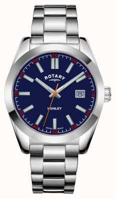 Rotary Mężczyźni | henley | niebieska tarcza | bransoleta ze stali nierdzewnej GB05180/05