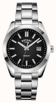 Rotary Kobiety | henley | czarna tarcza | bransoleta ze stali nierdzewnej LB05180/04