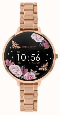 Reflex Active Inteligentny zegarek z serii 3 | Bransoletka ze stali w kolorze różowego złota RA03-4012