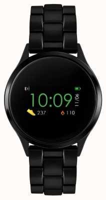 Reflex Active Inteligentny zegarek z serii 4 | kolorowy ekran dotykowy | bransoleta ze stali czarnej ip RA04-3000