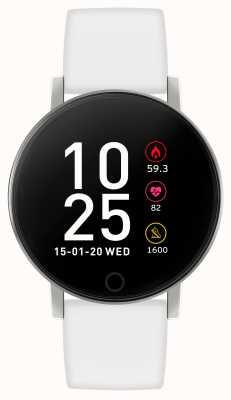 Reflex Active Inteligentny zegarek z serii 5 | monitor hr | kolorowy ekran dotykowy | biały pasek RA05-2019