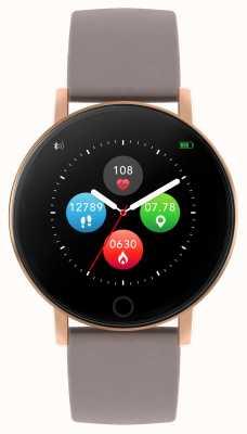 Reflex Active Inteligentny zegarek z serii 5 | monitor hr | kolorowy ekran dotykowy | taupe pasek RA05-2034