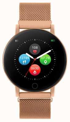 Reflex Active Inteligentny zegarek z serii 5 | monitor hr | kolorowy ekran dotykowy | stalowa siatka w kolorze różowego złota RA05-4016