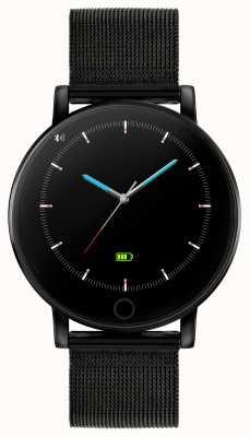 Reflex Active Inteligentny zegarek z serii 5 | monitor hr | kolorowy ekran dotykowy | czarna stalowa siatka ip RA05-4024