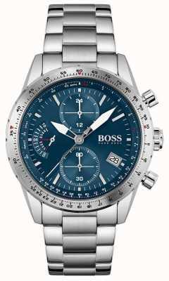 BOSS | edycja pilotażowa | męskie | bransoleta ze stali nierdzewnej | niebieska tarcza | 1513850