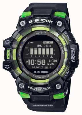 Casio G-shock | seria sportowa witalna | czarny silikonowy pasek | czarna tarcza GBD-100SM-1ER