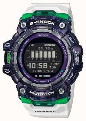 Casio G-shock | seria sportowa witalna | biały silikonowy pasek | czarna tarcza | bluetooth GBD-100SM-1A7ER